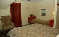 The C. Curry Bohm room  304 offers a queen sized bed and a twin bed.  Unwind and relax in our Shaker inspired Inn.